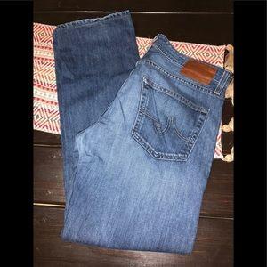 Men's Adriano goldschmeid straight leg jeans 33x32